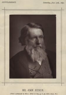 John Ruskin, by Elliott & Fry - NPG x13294