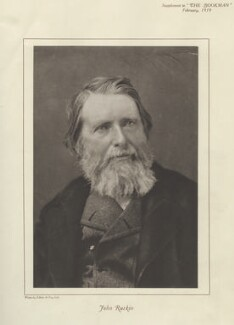 John Ruskin, by Elliott & Fry - NPG x13296