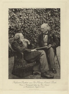 John Ruskin; Sir Henry Wentworth Acland, 1st Bt, by Sarah Angelina Acland, published by  George Allen - NPG x13297