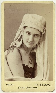 Cora Adriana, by Napoleon Sarony, 1870s - NPG x14 - © National Portrait Gallery, London