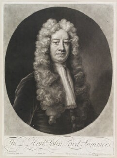 John Somers, Baron Somers, by and sold by John Smith, after  Jonathan Richardson - NPG D11572