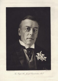 Joe Chamberlain, by Art Photogravure Co Ltd, after  Harold Palmer, for  Histed & Co - NPG x14263