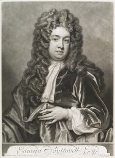 Edward Southwell, by and published by John Smith, after  Sir Godfrey Kneller, Bt, 1709 (1708) - NPG D11668 - © National Portrait Gallery, London