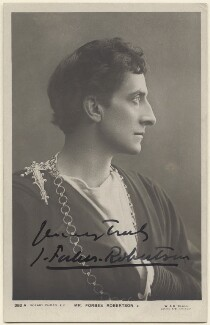 Sir Johnston Forbes-Robertson as Hamlet in 'Hamlet', by W. & D. Downey, published by  Rotary Photographic Co Ltd - NPG x14282