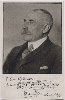 Sir Edward Elgar, Bt, by Herbert Lambert, circa 1922 - NPG x14360 - © National Portrait Gallery, London