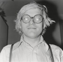 David Hockney, by Johnny Dewe-Mathews - NPG x1458