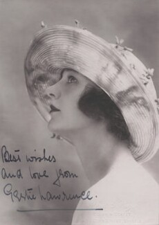 Gertrude Lawrence, by Alfred G. Wager - NPG x14707