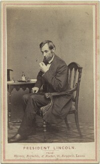 Abraham Lincoln, by Mathew B. Brady, published by  Edward Anthony - NPG x14718