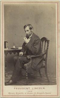 Abraham Lincoln, by Mathew B. Brady, published by  Edward Anthony - NPG x14718