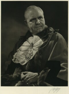 Sir George Aylwen, 1st Bt, by Karl Pollak - NPG x14999