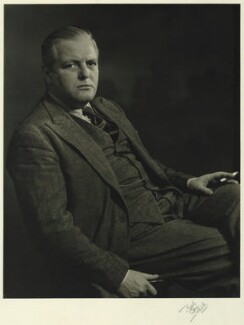 Randolph Frederick Edward Spencer Churchill, by Karl Pollak, circa 1948 - NPG x15010 - © reserved; collection National Portrait Gallery, London