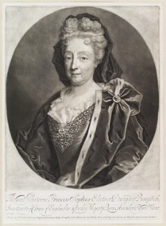 Princess Sophia, Electress of Hanover, by and published by John Smith, possibly after  Friedrich Wilhelm Weidemann, 1706 - NPG D11632 - © National Portrait Gallery, London