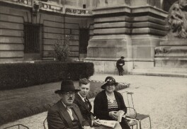 Frank Bridge; Benjamin Britten; Ethel Bridge, by Unknown photographer - NPG x15184