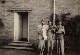 W.H. Auden; Sir William Menzies Coldstream; Benjamin Britten, by Unknown photographer, 1937 - NPG x15191 - © National Portrait Gallery, London