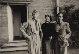 W.H. Auden; Hedli Anderson; Sir William Menzies Coldstream, by Unknown photographer - NPG x15192