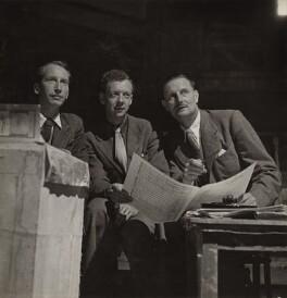 Eric John Crozier; Benjamin Britten; Sir (William) Tyrone Guthrie, by Maria Austria (Marie Karoline Oestreicher) - NPG x15219
