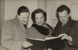 Peter Pears; Kathleen Ferrier; Benjamin Britten, by Unknown photographer - NPG x15229
