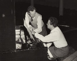 Benjamin Britten; Julius Katchen, by Fox Photos Ltd - NPG x15230