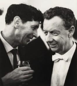 Sir Michael Kemp Tippett; Benjamin Britten, by Erich Auerbach - NPG x15239