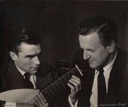 Peter Pears; Julian Bream, by Lotte Meitner-Graf, circa 1960 - NPG x15240 - © estate of Lotte Meitner-Graf