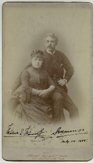Marie Effie (née Wilton), Lady Bancroft; Sir Squire Bancroft Bancroft (né Butterfield), by Herbert Rose Barraud - NPG x1525
