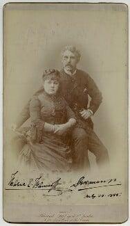 Marie Effie (née Wilton), Lady Bancroft; Sir Squire Bancroft (né Butterfield), by Herbert Rose Barraud - NPG x1525