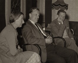 Imogen Clare Holst; Peter Pears; Benjamin Britten, by (Harald Emil) Axel Poignant, 1964 - NPG x15250 - © Axel Poignant Archive