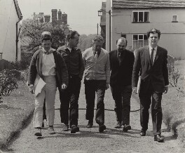 John Mordler; John Culshaw; Benjamin Britten; Robert Tear; John Shirley-Quirk, by Richard Adeney - NPG x15254