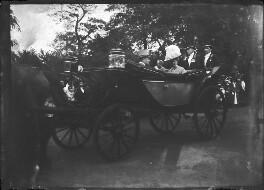 Adolphus Frederick, Grand Duke of Mecklenburg-Strelitz; Queen Mary; King George V, by Mrs Albert Broom (Christina Livingston) - NPG x158