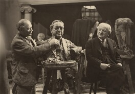Jacob Epstein; Philip Sayers, by Paul Laib - NPG x16194