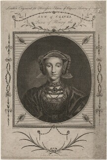 Anne of Cleves, by T. Woodman, by  Henry Mutlow, after  Hans Holbein the Younger, published 1 August 1784 - NPG D10544 - © National Portrait Gallery, London