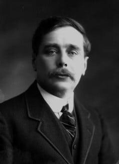 H.G. Wells, by Bassano Ltd, 12 April 1911 - NPG x16751 - © National Portrait Gallery, London