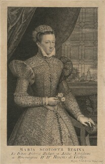 Unknown sitter, formerly known as Mary, Queen of Scots, by George Vertue - NPG D10547