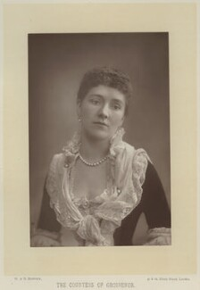Sibell Mary Grosvenor (née Lumley), Countess Grosvenor (later Lady Wyndham), by W. & D. Downey, published by  Cassell & Company, Ltd - NPG x16926