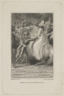 Bothwell Meeting the Queen (James Hepburn, 4th Earl of Bothwell; Mary, Queen of Scots), by Robert Hartley Cromek, after  Thomas Stothard, published 1798 - NPG D10550 - © National Portrait Gallery, London
