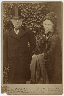 William Ewart Gladstone; Catherine Gladstone (née Glynne), by James Russell & Sons - NPG x17038