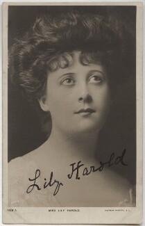 Lily Harold (née Lillie Nesta Morris Watkins), by The Hana Studios Ltd, published by  Rotary Photographic Co Ltd - NPG x17414
