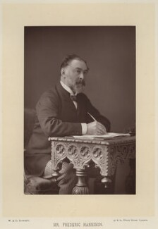 Frederic Harrison, by W. & D. Downey, published by  Cassell & Company, Ltd - NPG x17422