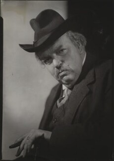 G.K. Chesterton, by Howard Coster - NPG x1788