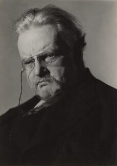 G.K. Chesterton, by Howard Coster - NPG x1790