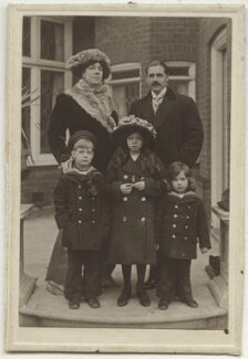 Dame Clara Ellen Butt and Robert Henry Kennerley-Rumford with their children, by Unknown photographer - NPG x19025