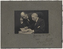 Algernon Henry Blackwood; Sir Edward Elgar, Bt, by Ernest Walter Histed - NPG x19029