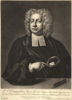 John Theophilus Desaguliers, by Peter Pelham, after  Hans Hysing - NPG D10562