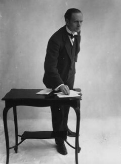 Sir (Ralph) Norman Angell (né Ralph Norman Angell Lane), by Bassano Ltd, circa 1913 - NPG x19318 - © National Portrait Gallery, London