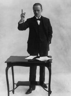 Sir (Ralph) Norman Angell (né Ralph Norman Angell Lane), by Bassano Ltd, circa 1913 - NPG x19321 - © National Portrait Gallery, London