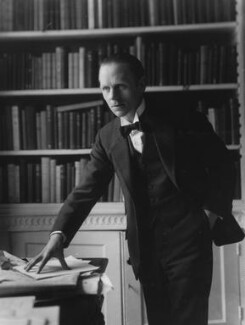 Sir (Ralph) Norman Angell (né Ralph Norman Angell Lane), by Bassano Ltd, circa 1913 - NPG x19323 - © National Portrait Gallery, London