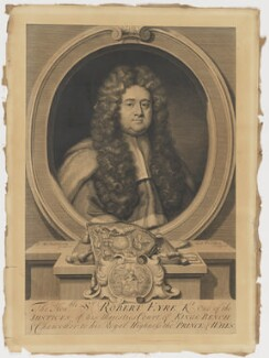 Sir Robert Eyre, by George Vertue, after  Jonathan Richardson, 1715 - NPG D10565 - © National Portrait Gallery, London