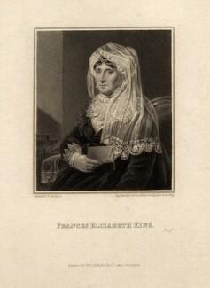 Frances Elizabeth King (née Bernard), by Edward Scriven, after  Edward Hastings - NPG D10569