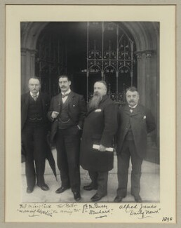 Mr Minstrell; Theodore Alexander Demetrius Bello; James Frankland Moir Bussy; Alfred Janes, by Benjamin Stone - NPG x19940