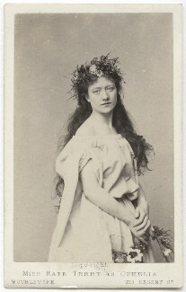 Kate Terry as Ophelia in 'Hamlet', by United Association of Photography Limited - NPG x20038
